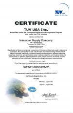 PDF of Insulation Supply Company ISO certification